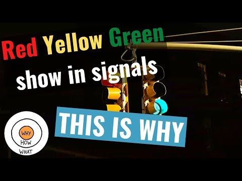 Why traffic lights are red, yellow, and green?   know the reason