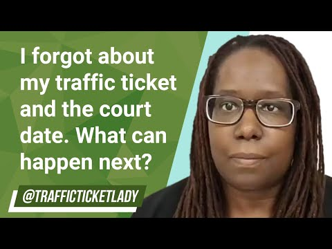 I forgot about my traffic ticket and the court date. what can happen next?