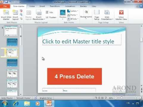Using powerpoint 2010 - remove a placeholder