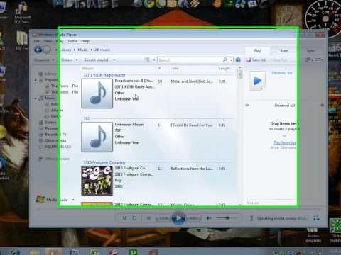 Organize music in media player or add music.wmv