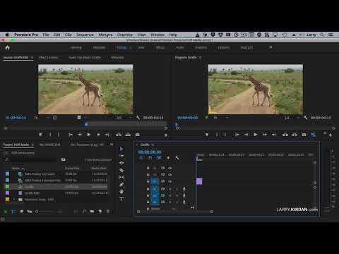 Optimize premiere pro preferences for hdr media