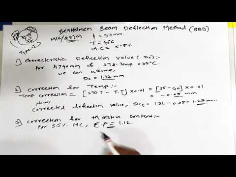 Benkelman beam deflection (bbd)   part 2   correction of deflection values   tre   highway engg