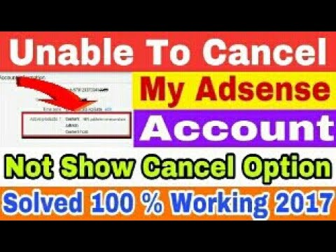 Unable to cancel my google adsense account ? no cancel option show