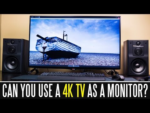 """Can you use a 40"""" 4k 60hz tv as a computer monitor?"""