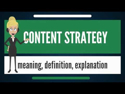What is content strategy? what does content strategy mean? content strategy meaning & explanation