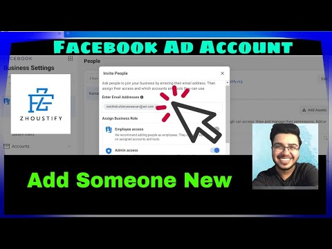 How to add someone to my facebook ad account (2021)