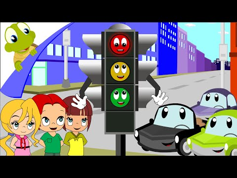 Red light, red light what do you say? - nursery rhyme
