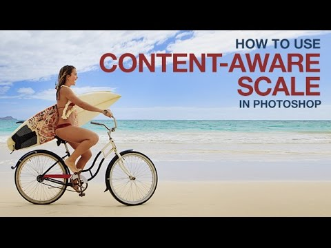 How to use content-aware scale in photoshop