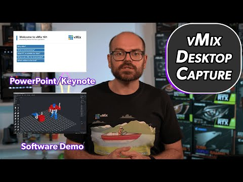 What is the vmix desktop capture program and how can i use it?