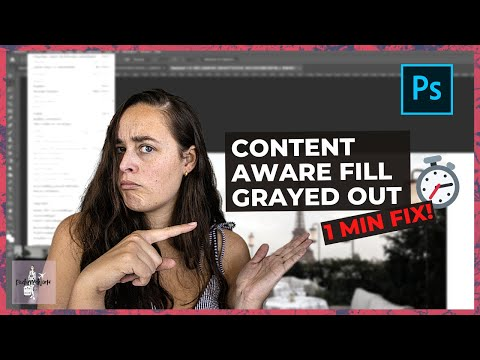Content aware fill photoshop grayed out?   quick & easy 1-minute fix ⏱
