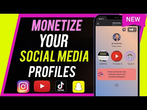 How to monetize your social media content & bio link