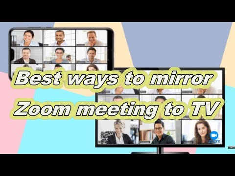 Best ways to cast zoom meeting to tv