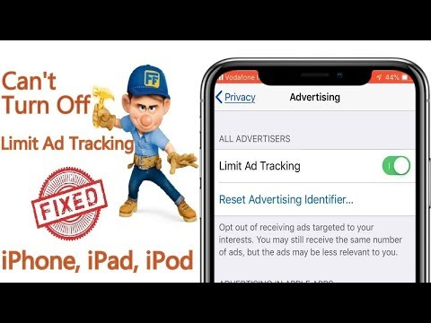 Fix can't turn off limit ad tracking ios 13/ios 14  fix limit ad tracking greyed out on iphone[2021]