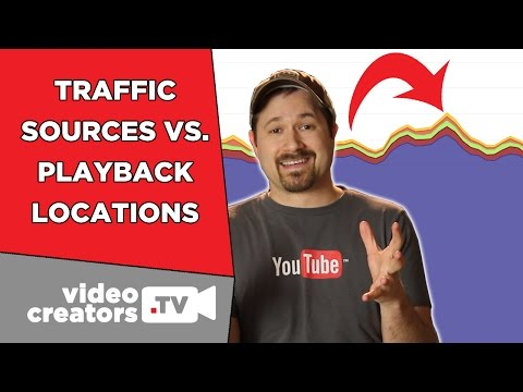 How to use traffic sources vs. playback locations in youtube analytics