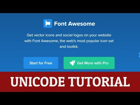 How to use font awesome unicode in css & html