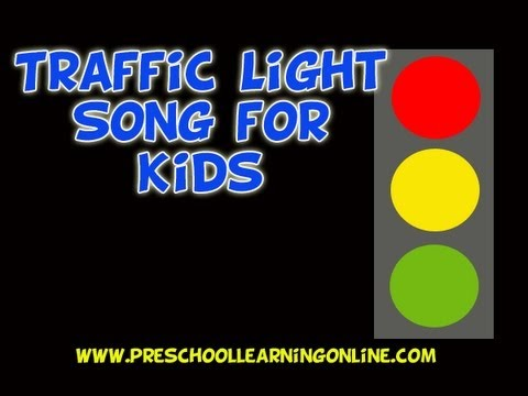 Traffic light song for preschoolers   red yellow green traffic light song for toddlers   kids