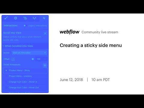 Creating a sticky side menu