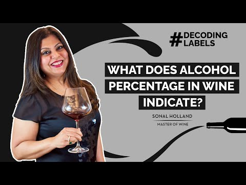 #decodinglabels: what does alcohol percentage in a wine indicate? | sonal holland mw