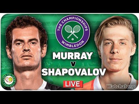 Murray vs shapovalov | wimbledon 2021 | live gtl tennis watchalong
