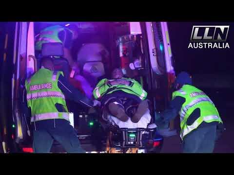 Drunk driver hits aussie traffic controller directing traffic in bright vest   qld, aus 7.30.21