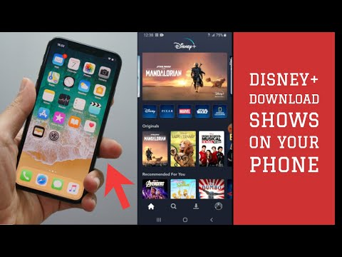 Disney plus- download disney shows movies to your phone