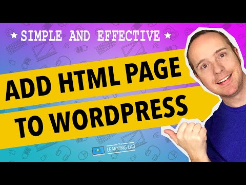 How to add an html page to wordpress - and get free leadpage html templates