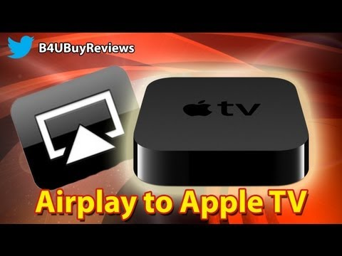 Airplay to apple tv, stream your computer to your tv