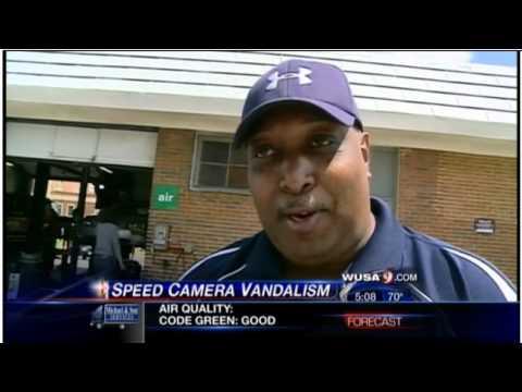 Clever way to warn drivers of speed cameras: vandal marking hidden dc speed cameras