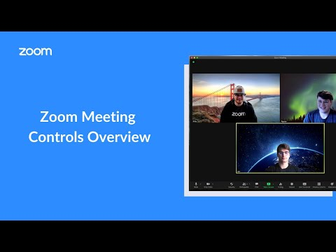 How to use zoom meeting controls