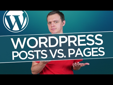 Posts vs. page   difference & when to use each: wordpress for beginners tutorial