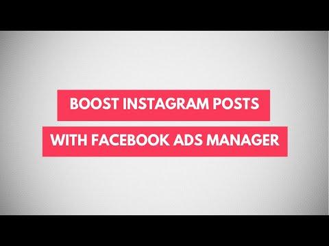 Boost instagram posts from desktop facebook ads manager | instagram ads tutorial 2019